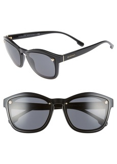 Versace Medusa 57mm Square Sunglasses