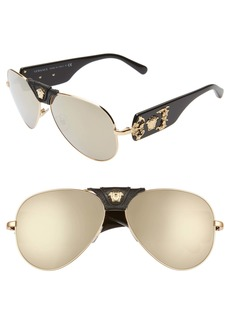 Versace Medusa 62mm Aviator Sunglasses