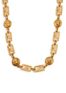 Versace Medusa and Greek-key long necklace