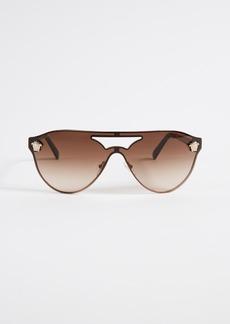 Versace Medusa Aviator Shield Sunglasses