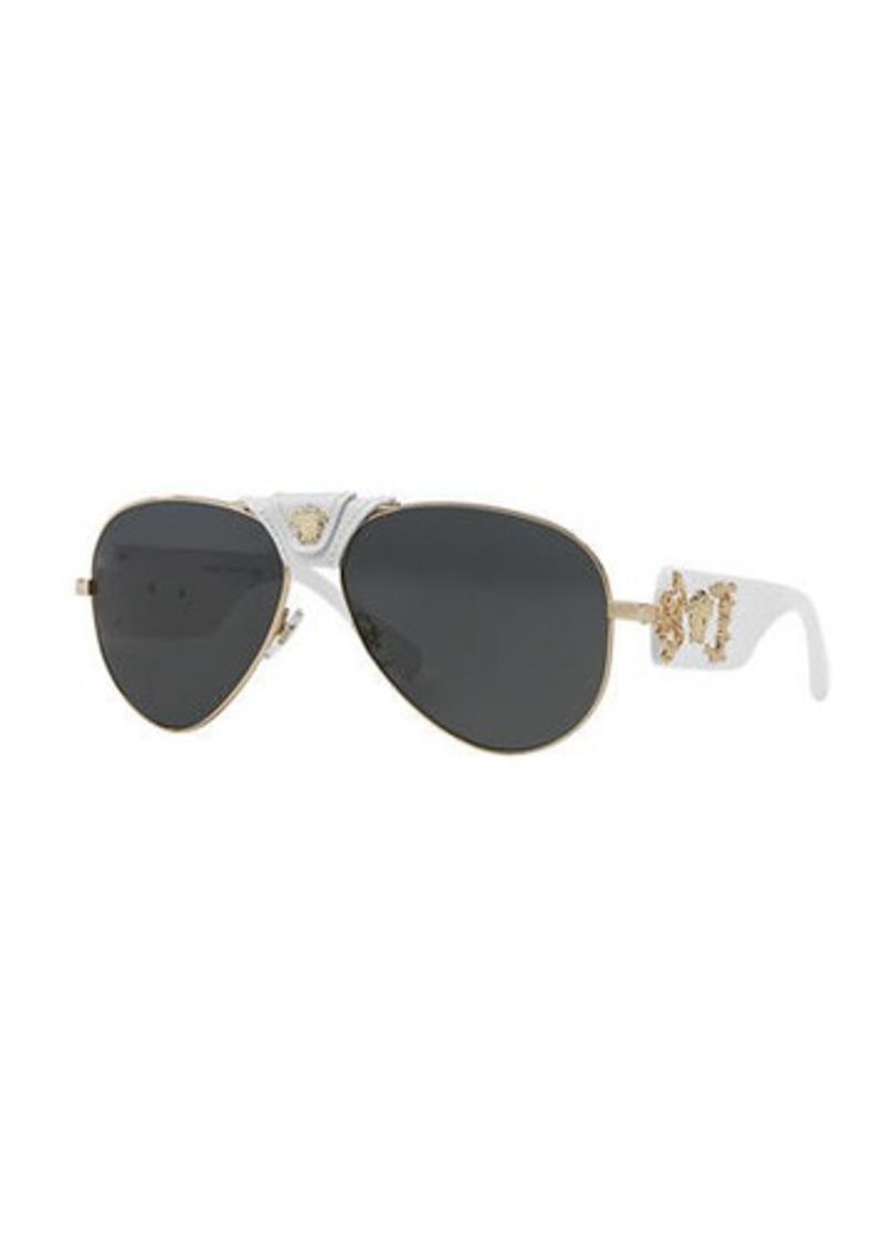 5c32ae68b01 Versace Medusa Aviator Sunglasses