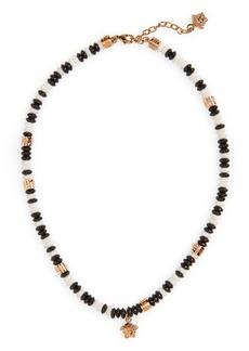 Versace Medusa Beaded Pendant Necklace