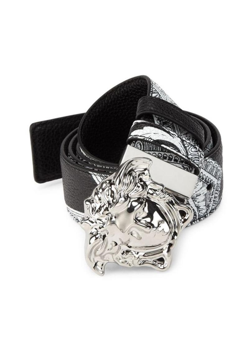 04639f654c Versace Medusa Buckle Leather Belt