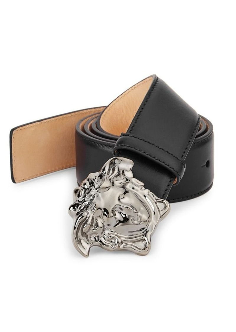 e53cc3c437a Versace Medusa-Buckle Leather Belt