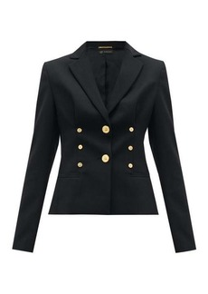 Versace Medusa-button cropped wool-blend blazer