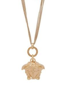Versace Medusa-charm triple-chain pendant