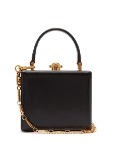 Versace Medusa-clasp leather box bag
