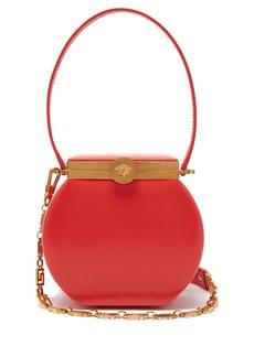 Versace Medusa-clasp leather shoulder bag