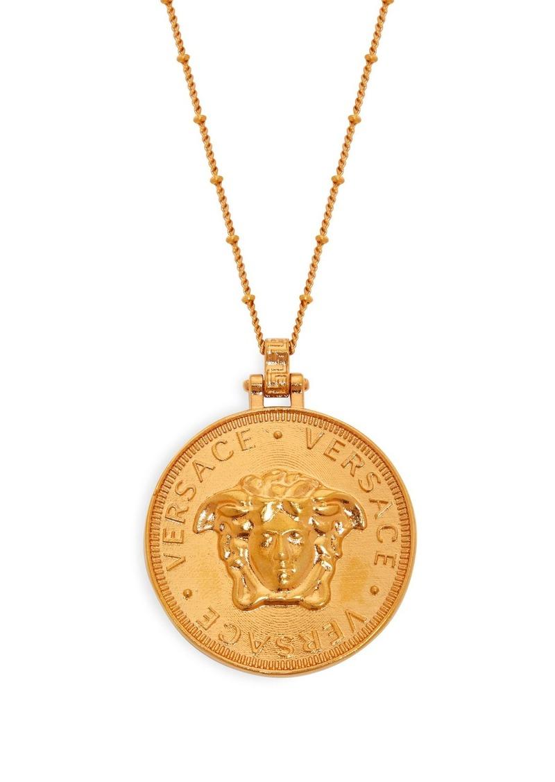 Versace versace medusa coin necklace jewelry versace medusa coin necklace aloadofball Images