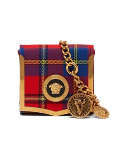Versace Medusa-coin tartan belt bag