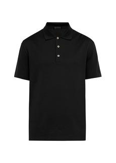 Versace Medusa crystal-button cotton-piqué polo shirt