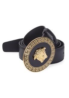 Versace Oval Medallion Vitello Belt