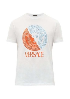 Versace Medusa head and logo-print cotton T-shirt
