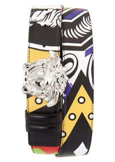 Versace Medusa Head Buckle Leather Belt