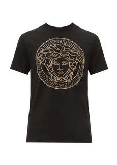 Versace Medusa head-embellished cotton T-shirt