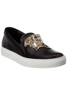 Versace Medusa Head Leather Slip-On Sneaker
