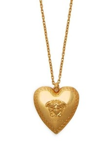 Versace Medusa heart-pendant necklace