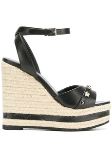 Versace Medusa high-wedge sandals - Black
