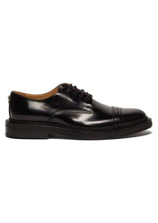 Versace Medusa-plaque leather derby shoes