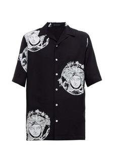 Versace Medusa-print bowling shirt