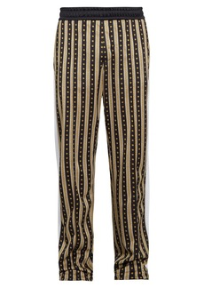 Versace Medusa-print side-striped track pants