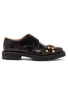 Versace Medusa raised-sole leather brogues