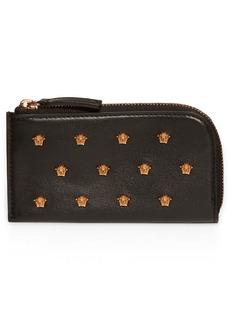 Versace Medusa Stud Leather Card Case