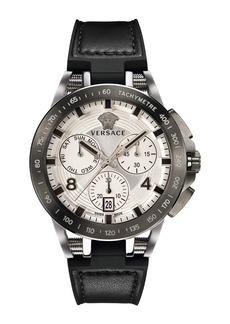 Versace Men's 45mm Sport Tech Chronograph Watch  Black