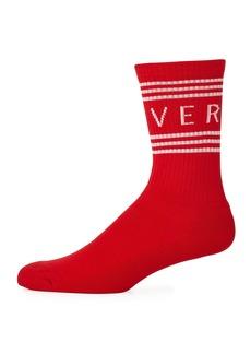 Versace Men's Athletic Band Socks