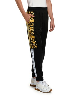 Versace Men's Baroque-Inset Sweatpants
