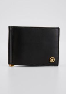 Versace Men's Bi-Fold Medusa Leather Wallet w/ Money Clip