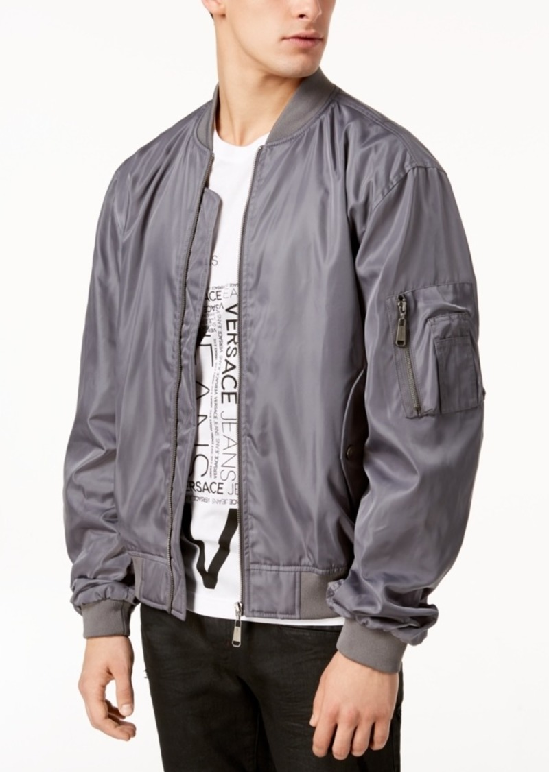 7b0668d794 Men's Embroidered Logo Bomber Jacket