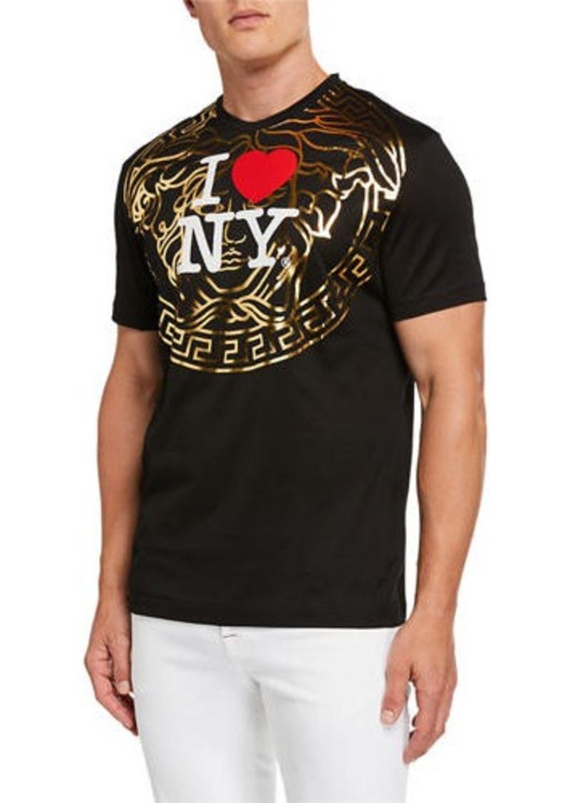 Versace Men's I Heart NY Medusa Graphic T-Shirt