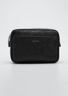 Versace Men's Leather Barocco Belt Bag