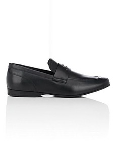 Versace Men's Leather Penny Loafers