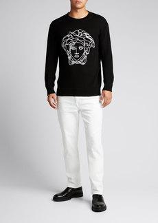 Versace Men's Medusa Knit Wool Sweater