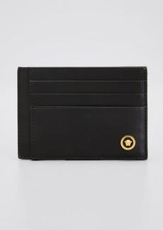 Versace Men's Medusa Leather Card Case
