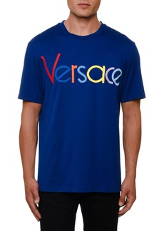 Versace Men's Multicolor Logo Graphic T-Shirt