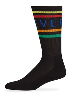 Versace Men's Multicolor Logo Stripe Socks