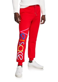 Versace Men's Multicolor Logo Sweatpants