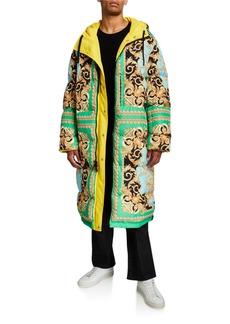 Versace Men's Reversible Puffer Trench Coat