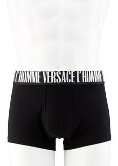 Versace Men's Solid Logo Boxer Briefs