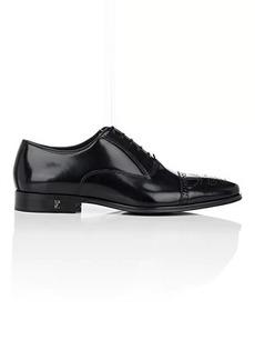 Versace Men's Spazzolato Leather Cap-Toe Balmorals