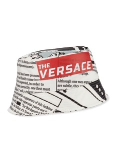 Versace Men's Tabloid-Print Bucket Hat