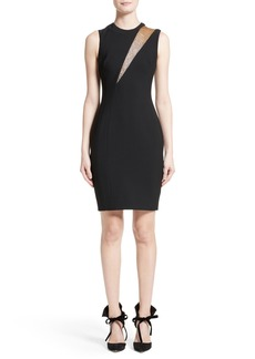 Versace Mesh Inset Sheath Dress