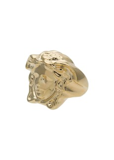 Versace metallic Medusa signet ring