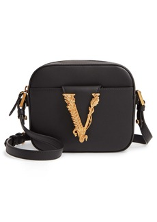 Versace Mini Virtus Leather Shoulder Bag