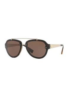 Versace Mirrored Aviator Sunglasses