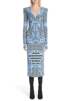 Versace Mixed Print Jersey Dress