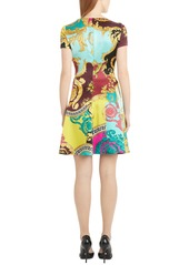 Versace Mixed Print Silk Minidress